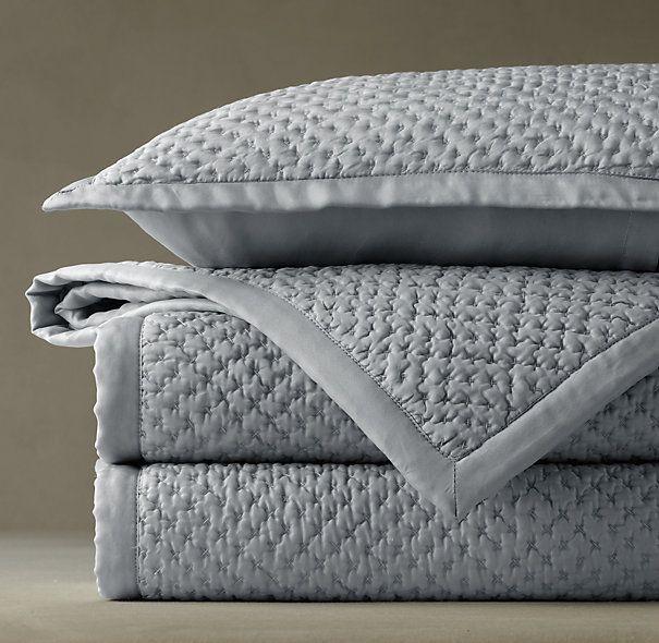 Washed Silk Quilt Quilts Coverlets Restoration Hardware