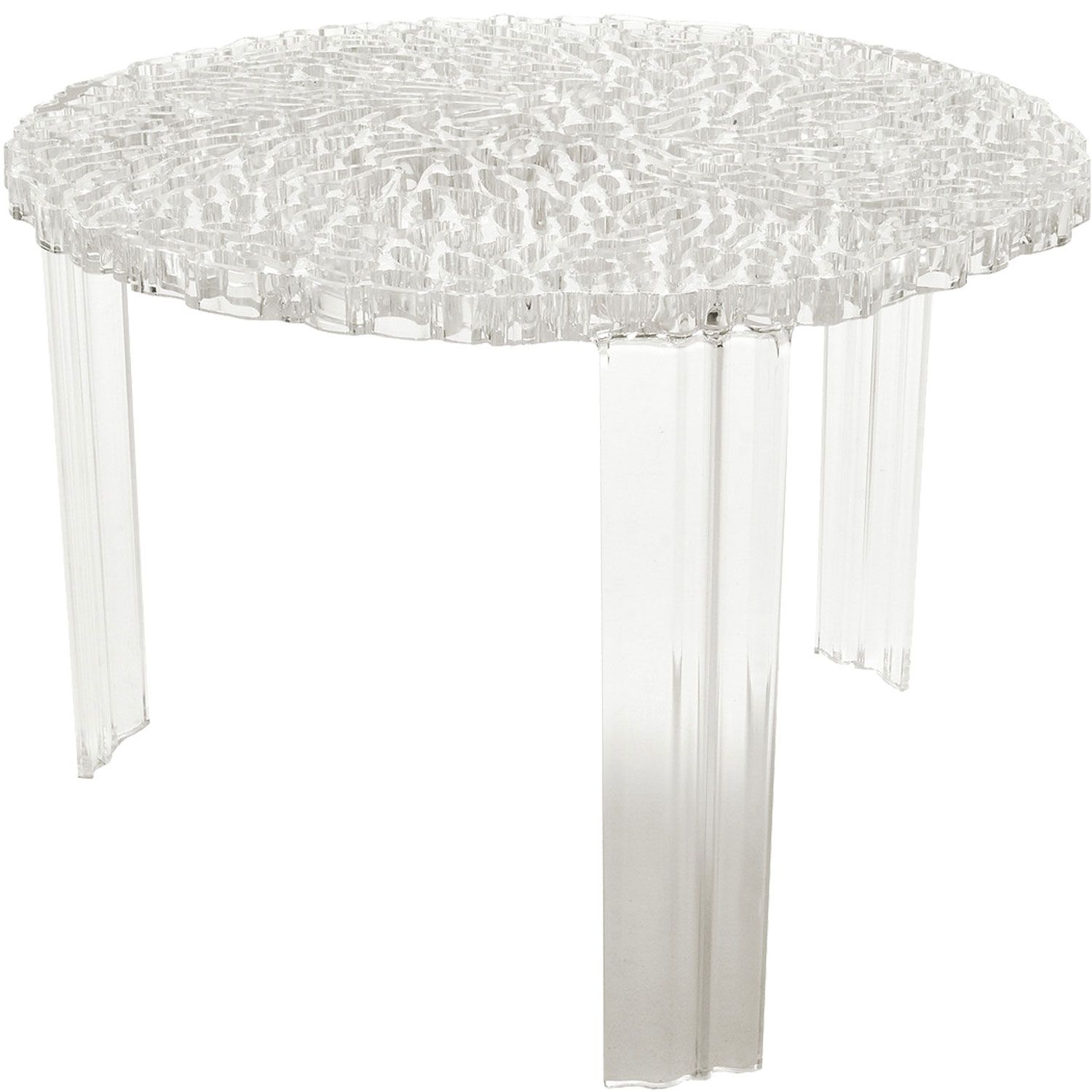 Kartell T Table Bijzettafel.T Table Sidebord Krystall Liten Interior Bord Mobler