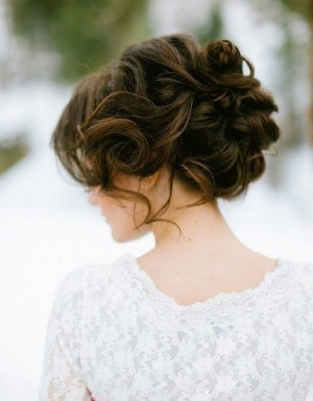 Curly Wedding Updo Hairstyles Loose Curls Regarding