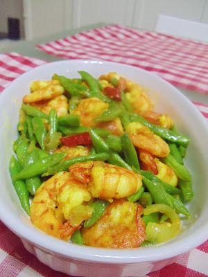 Step By Step Kacang Buncis Udang Goreng Kunyit Resep Masakan Masakan Resep Makanan