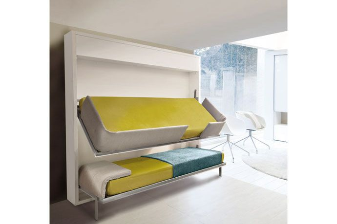 litera abatible color blanco de lnea depurada literas abatibles horizontal sofas camas cruces