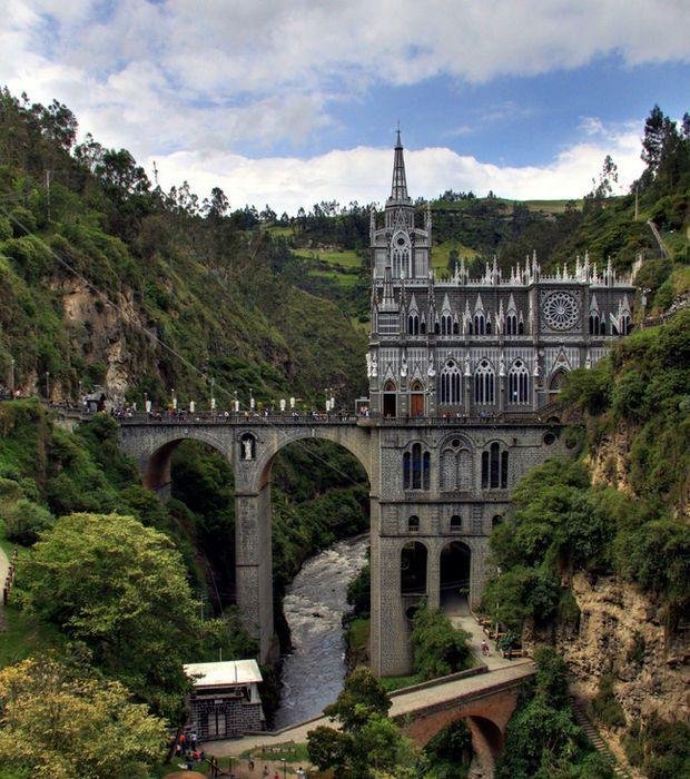Le sanctuaire de Las Lajas en Colombie