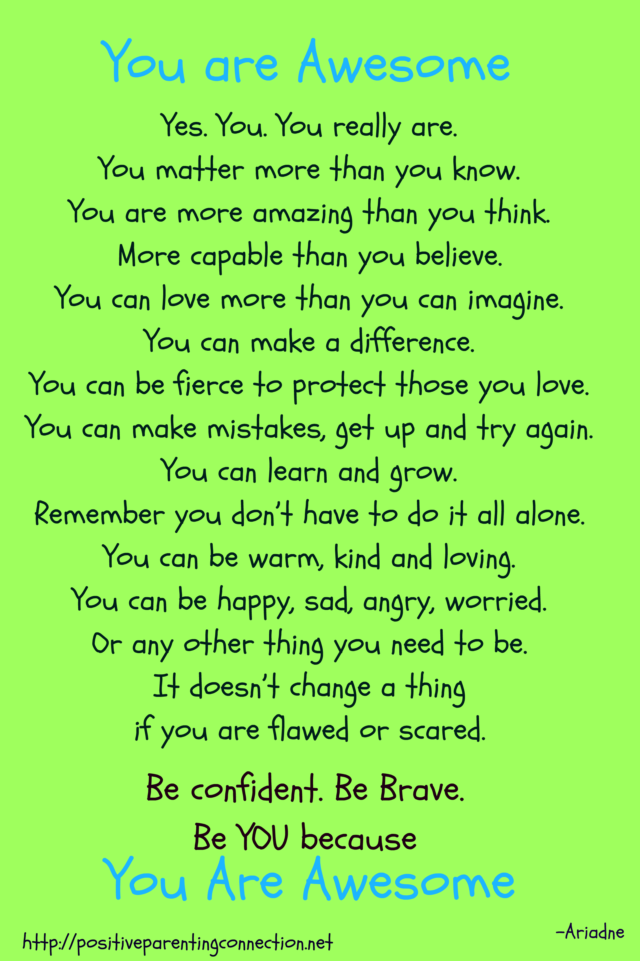 You Are Awesome Quotes 3