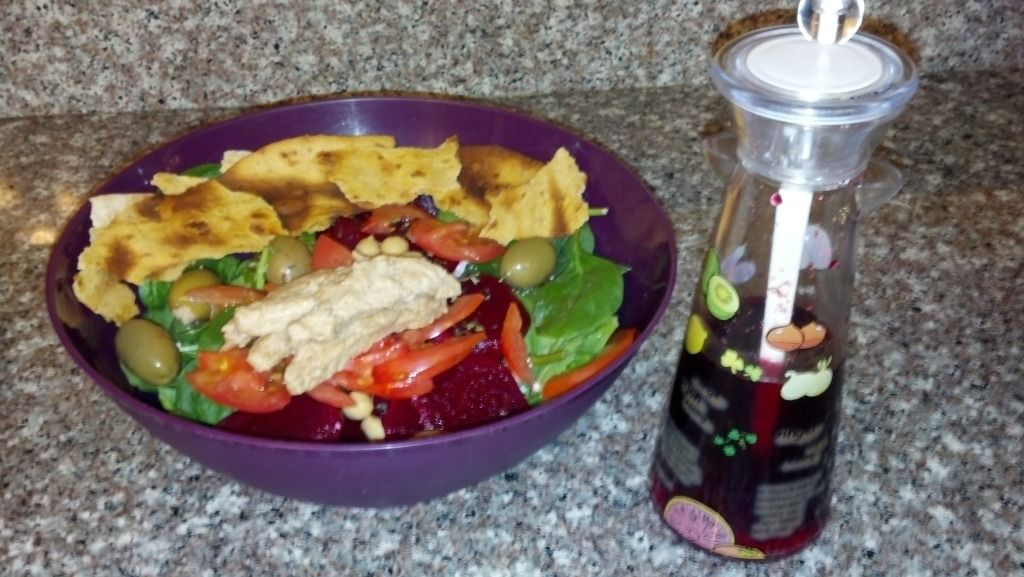 Greek Fattoush Mixed Salad  Salad with homemade dressing