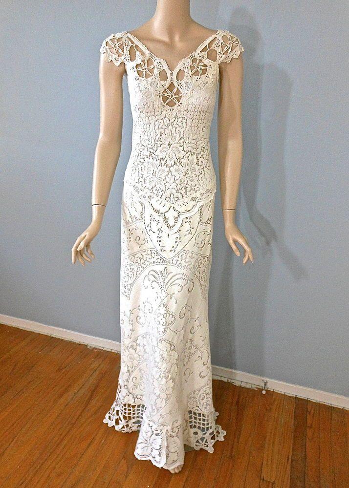 Crochet Mermaid Wedding Dress