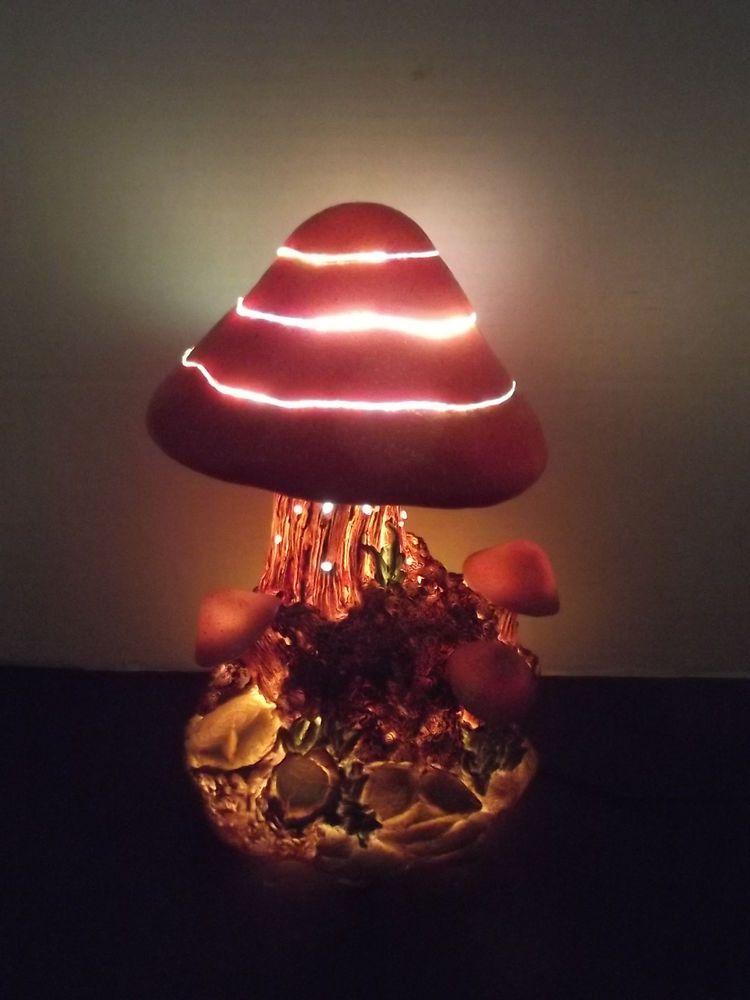 Fiber Optic Color Changing Mushroom Light In 2019