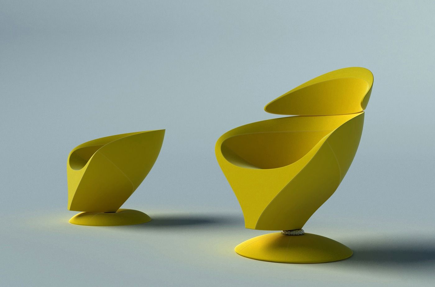 Yuca Easy Chair, By Kirsten Hoppert Germany) U0026 Steffen Kroll Germany).  Sculptural Seating At Its Zenith.