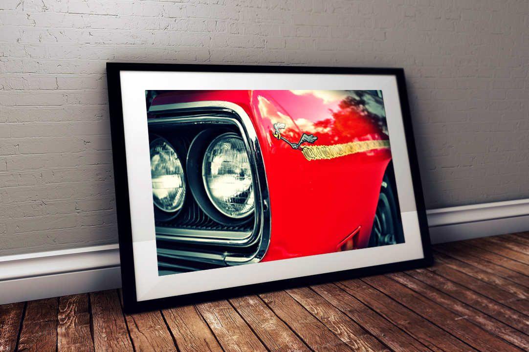 MOPAR Roadrunner CAR RACING ADVERTISING POSTER Only Vintage Design 24 X 36