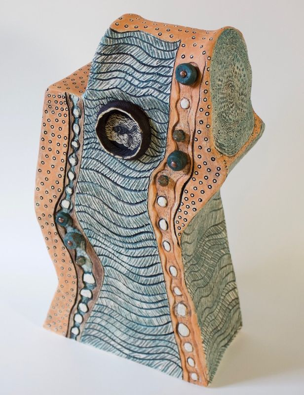 Showcase piece for modern beach house! This sculpture by Patricia Griffin can be viewed at Vault Gallery in Cambria.