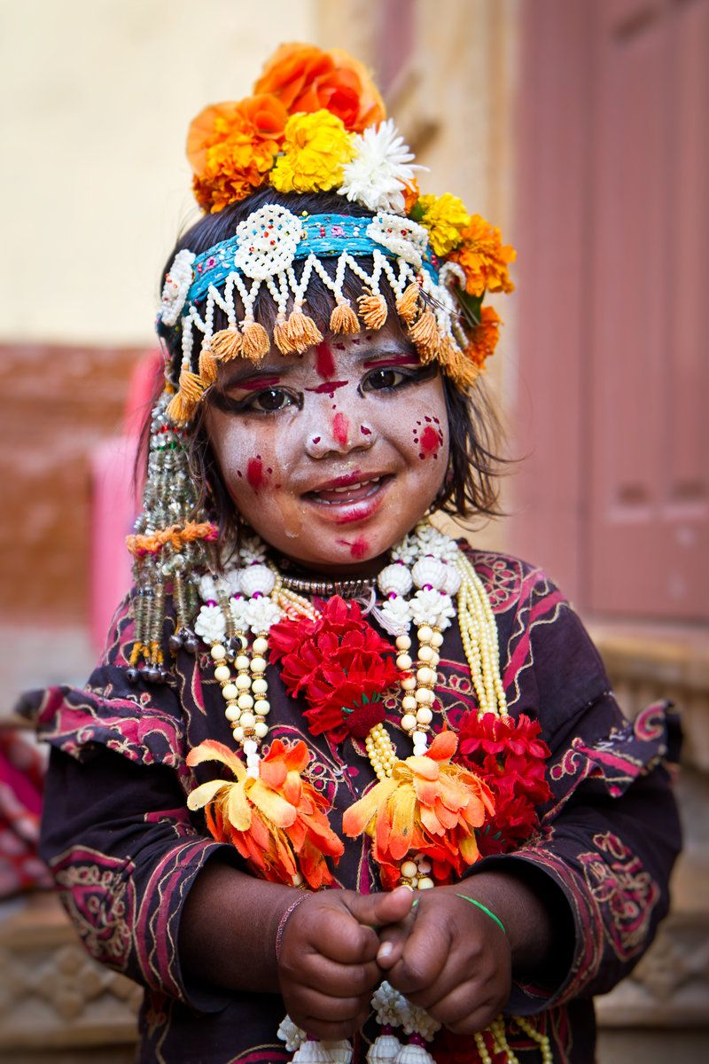A Young Indian Gypsy Girl In Jaisalmer India Indian