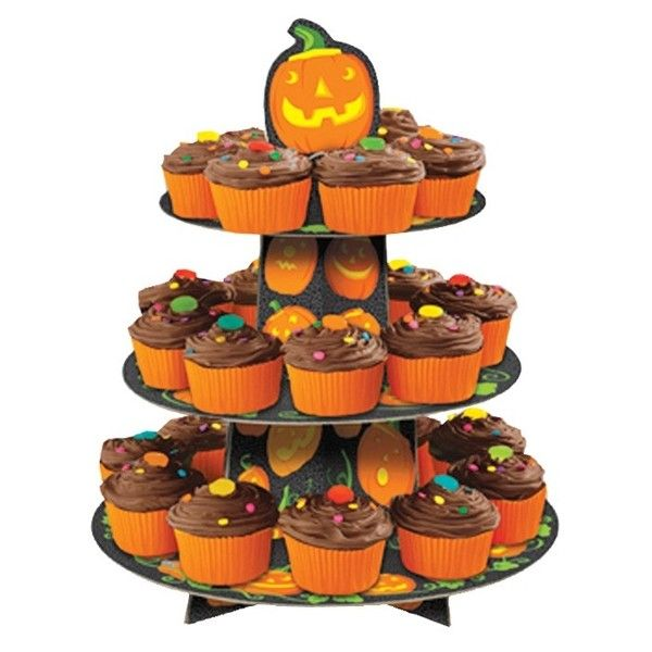 halloween cupcake stand perfect pumpkin halloween party kids party shop - Halloween Cupcake Holder