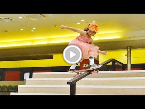 brand new b6edf ceb2b 8 YEAR OLD GIRL IS INCREDIBLY TALENTED AT SKATEBOARDING