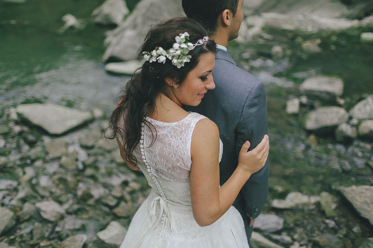 boho bridal flower hair accessory bride and groom elegant