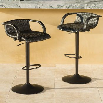 Costco outdoor bar stools $279 2-pack Portofino Airlift Barstool ...