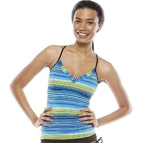 Nike Striped Racerback Tankini Top - Women's NESS4265 Size 6 Blue Stripe, http://www.amazon.com/dp/B00121K15U/ref=cm_sw_r_pi_awdm_NOF7vb0GXWJHH