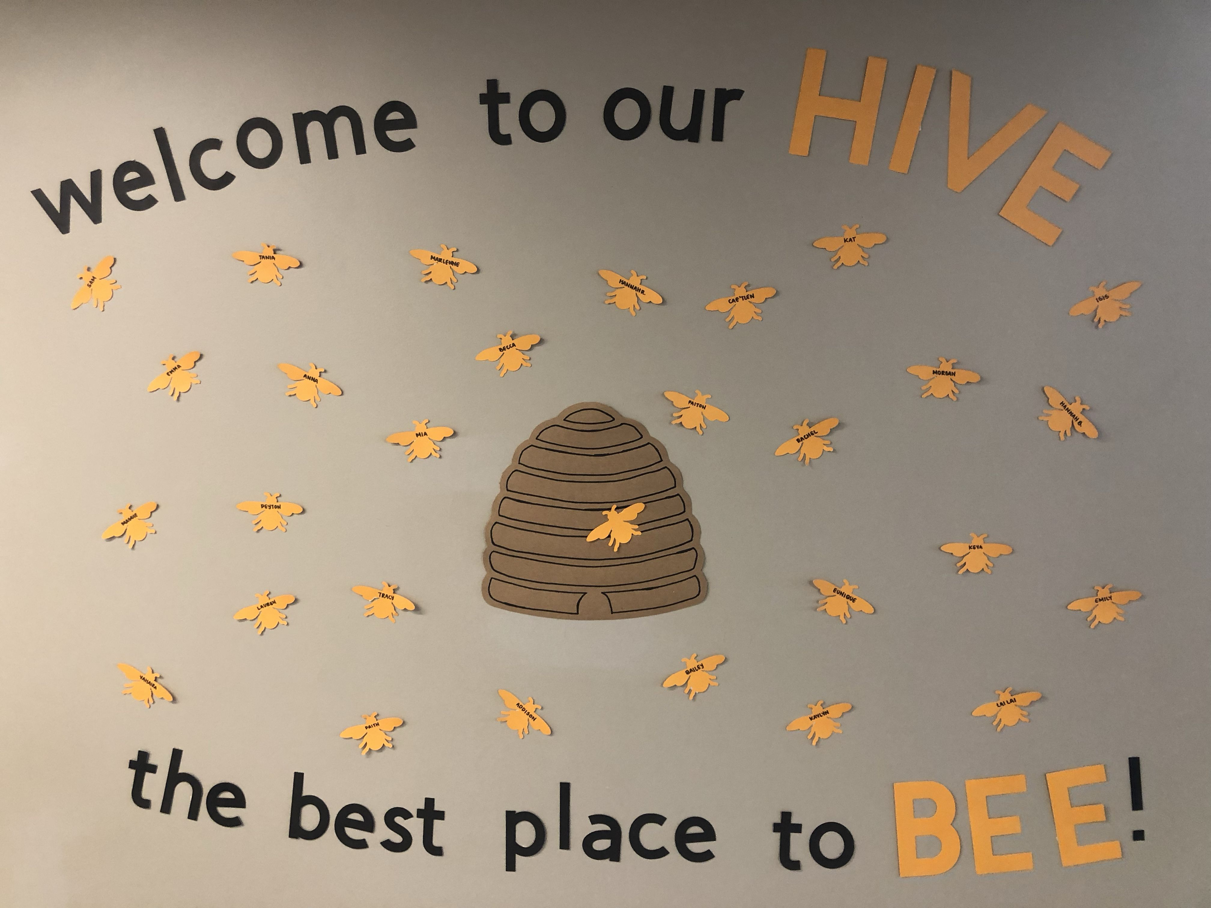 bee themed and puns! residents names on bees | RA | Bee