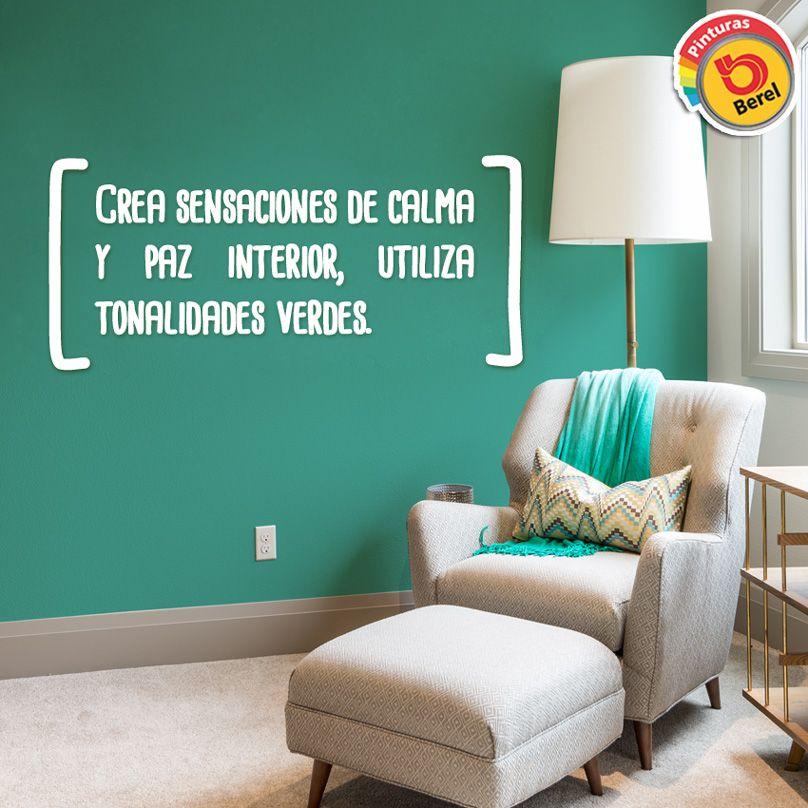 Con ctate con la naturaleza y crea sensaciones de calma y for Pintura turquesa pared