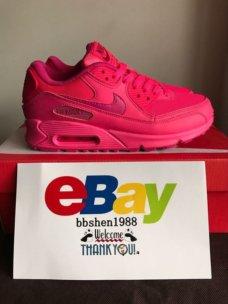 los angeles c9555 a06f7 WOMENS NIKE AIR MAX 90 2007 GS HYPER VIVID FIREBERRY Pink SHOES  Nike   RunningCrossTraining