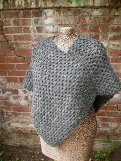 Granite Poncho Archived Pattern By Marie Christine Mahe