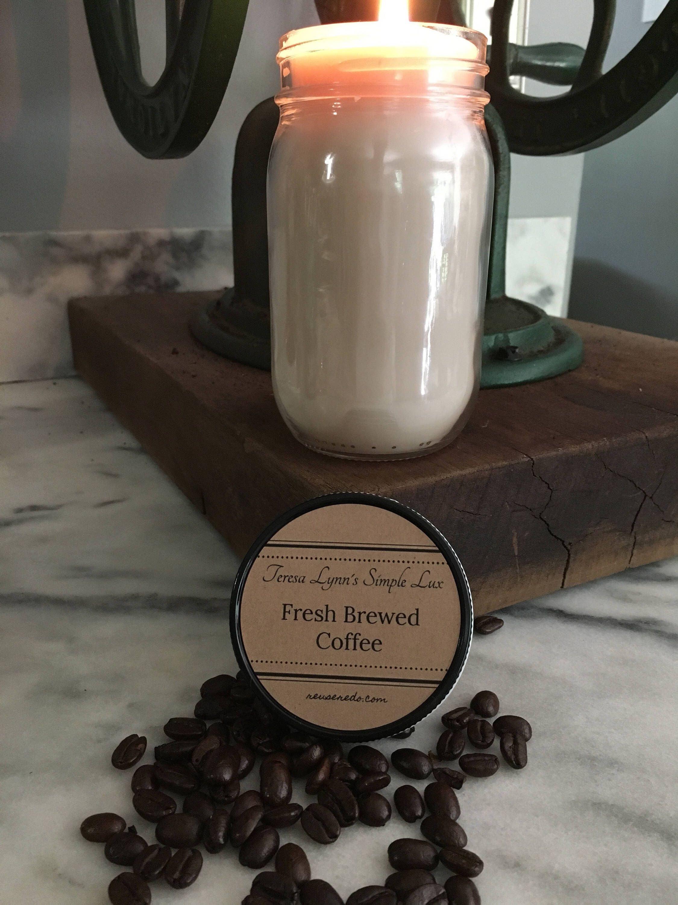 A personal favorite from my Etsy shop https://www.etsy.com/listing/530973826/fresh-ground-coffee-scented-hand-poured