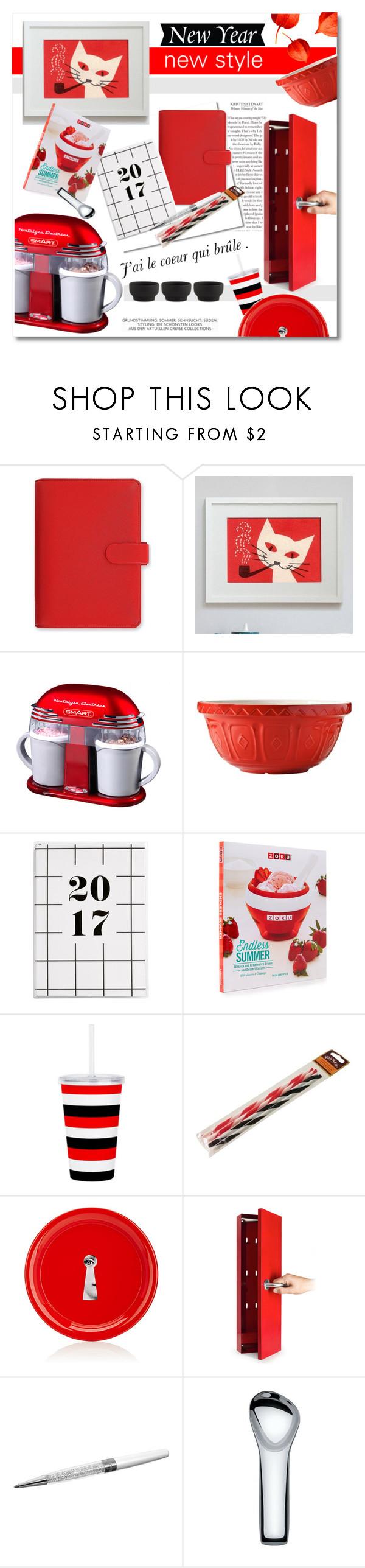 """New Year, new style"" by nucasa ❤ liked on Polyvore featuring interior, interiors, interior design, home, home decor, interior decorating, FiloFax, Mason Cash, Kilner and Fornasetti"