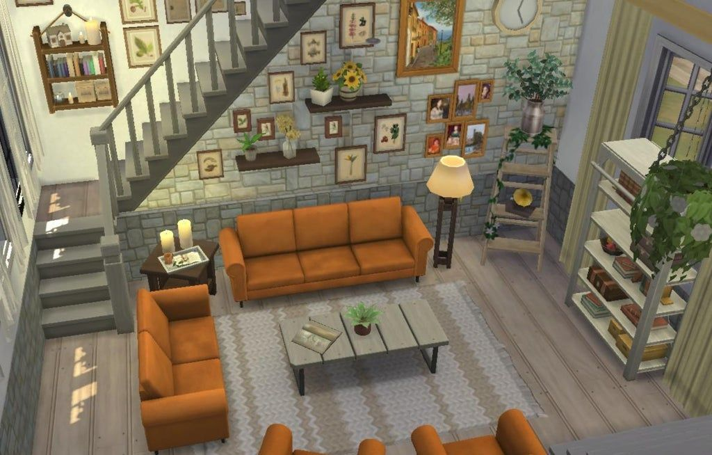 Some Attempt At Making A Split Level Living Room I Like How It Looks But I Can T Save Or Move It Because It Sims House Sims Freeplay Houses Sims House Design Making room in this house