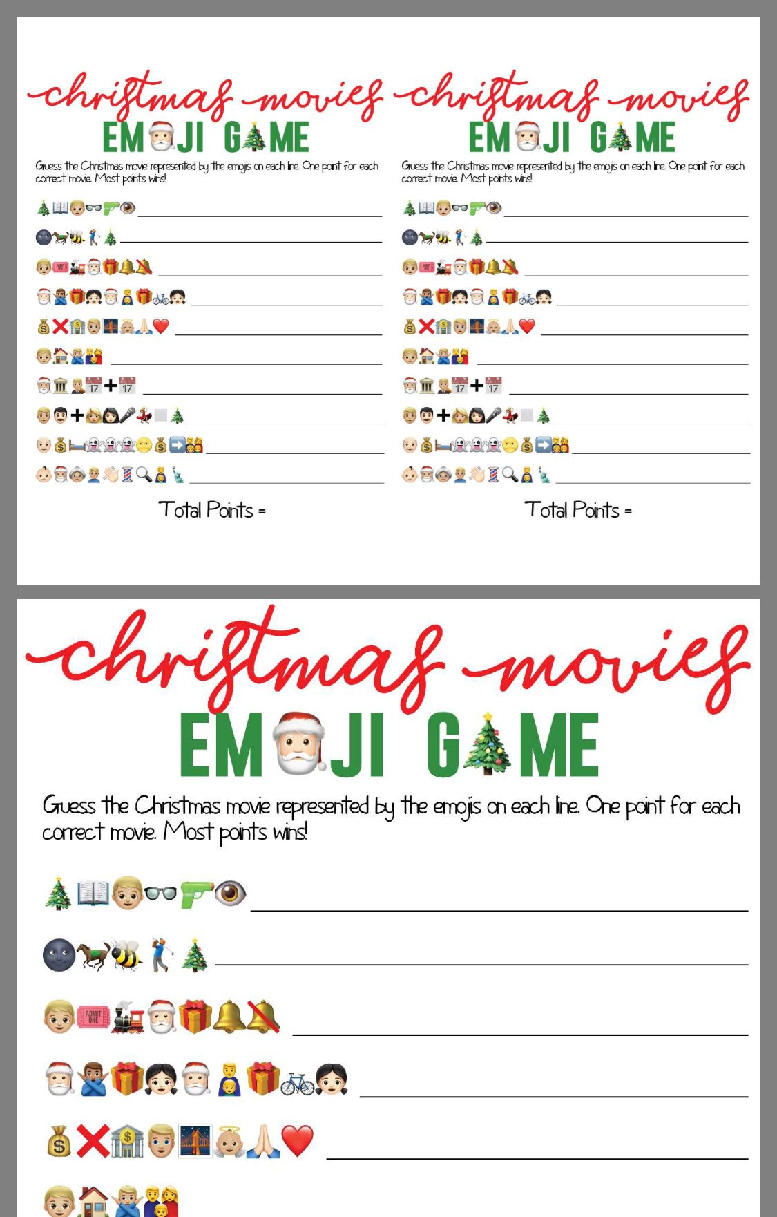 Pin By Kasandra Ackerson On Christmas Youth Emoji Games Christmas Youth Christmas Party Games