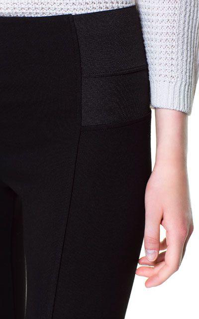HIGH WAISTED LEGGINGS - Trousers - Woman | ZARA United States