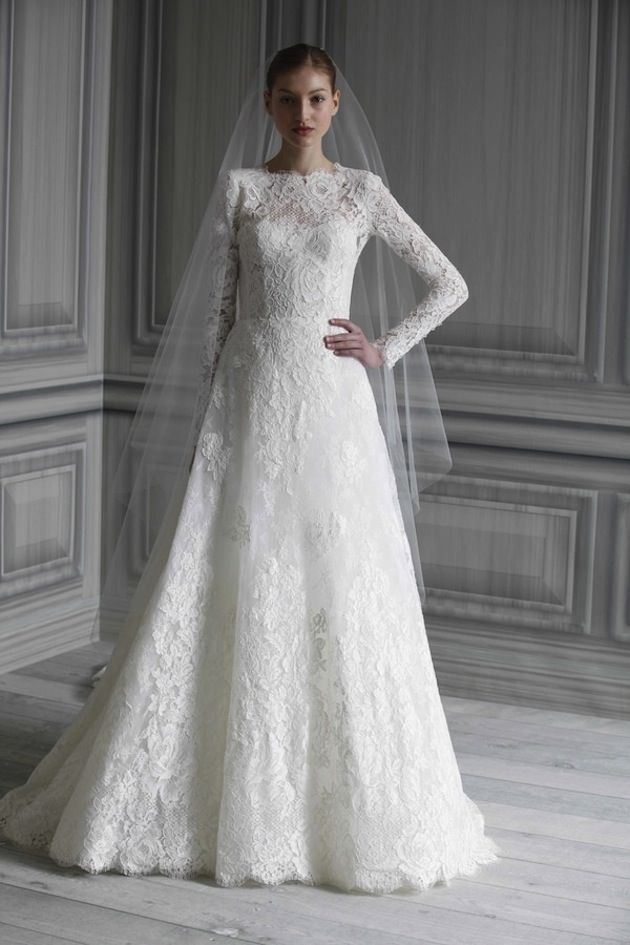 35 Wedding Gowns With Sleeves Monique lhuillier Wedding dress