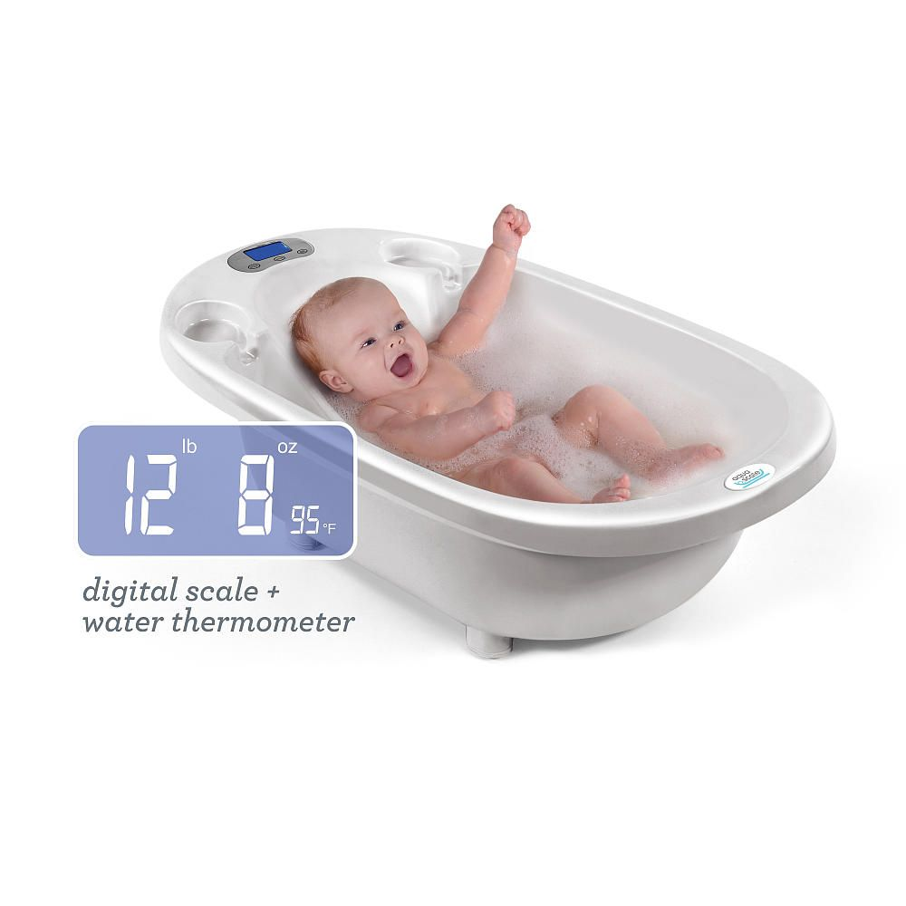 aqua scale 3 in 1 infant bathtub scale water thermometer white upspring babies r us. Black Bedroom Furniture Sets. Home Design Ideas