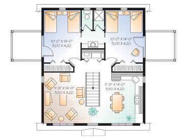 2 Bed 1 5 Bath Split Bedroom Bay Garage Apartment Plan