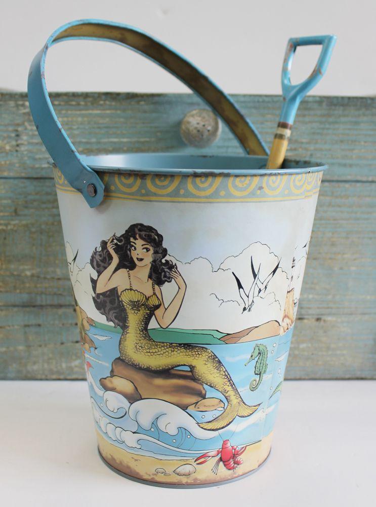 mermaid sand pail u0026 shovel food safe