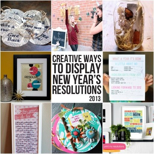 Creative Ways To Display New Year S Resolutions New Years Resolution Newyear New Year Gifts