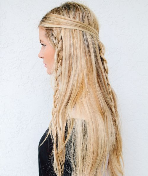 38 Quick And Easy Braided Hairstyles Braided Hairstyles Easy Hippie Hair Thick Hair Styles