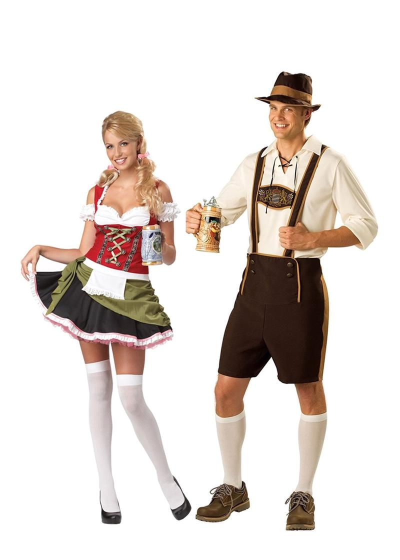 Lederhosen Bavarian Couples Costume PIN10 for 10% off  sc 1 st  Pinterest & Lederhosen Bavarian Couples Costume PIN10 for 10% off | Couples ...