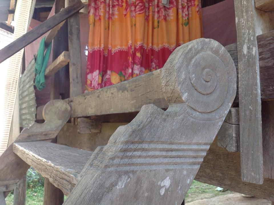 Stair head cambodian khmer wooden house pinterest wooden stair head malvernweather Choice Image