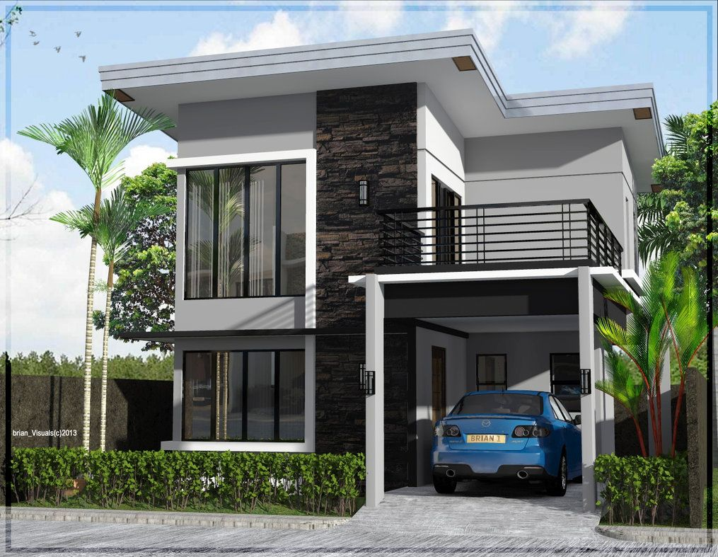 2 Storey Minimalist Exterior 2 Storey House Design Two Story House Design Asian House