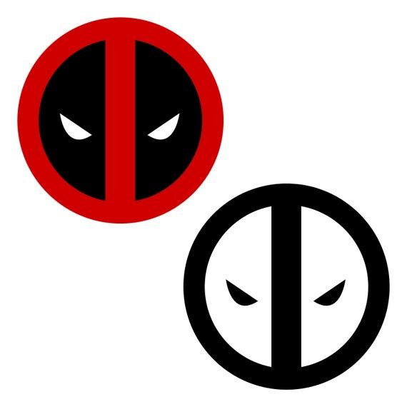 Deadpool Logo Marvel Clipart Svg Eps Png File Printable Etsy Deadpool Logo Clip Art White Background Images