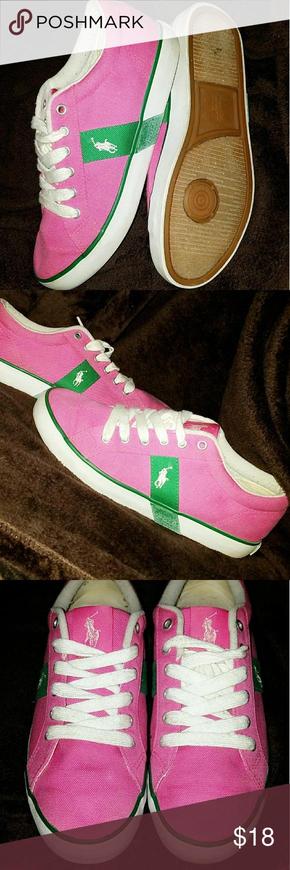 Women's Pink Polo Ralph Lauren Sneakers