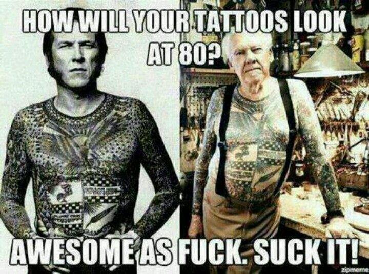 Tattooed soldiers sucking fucking