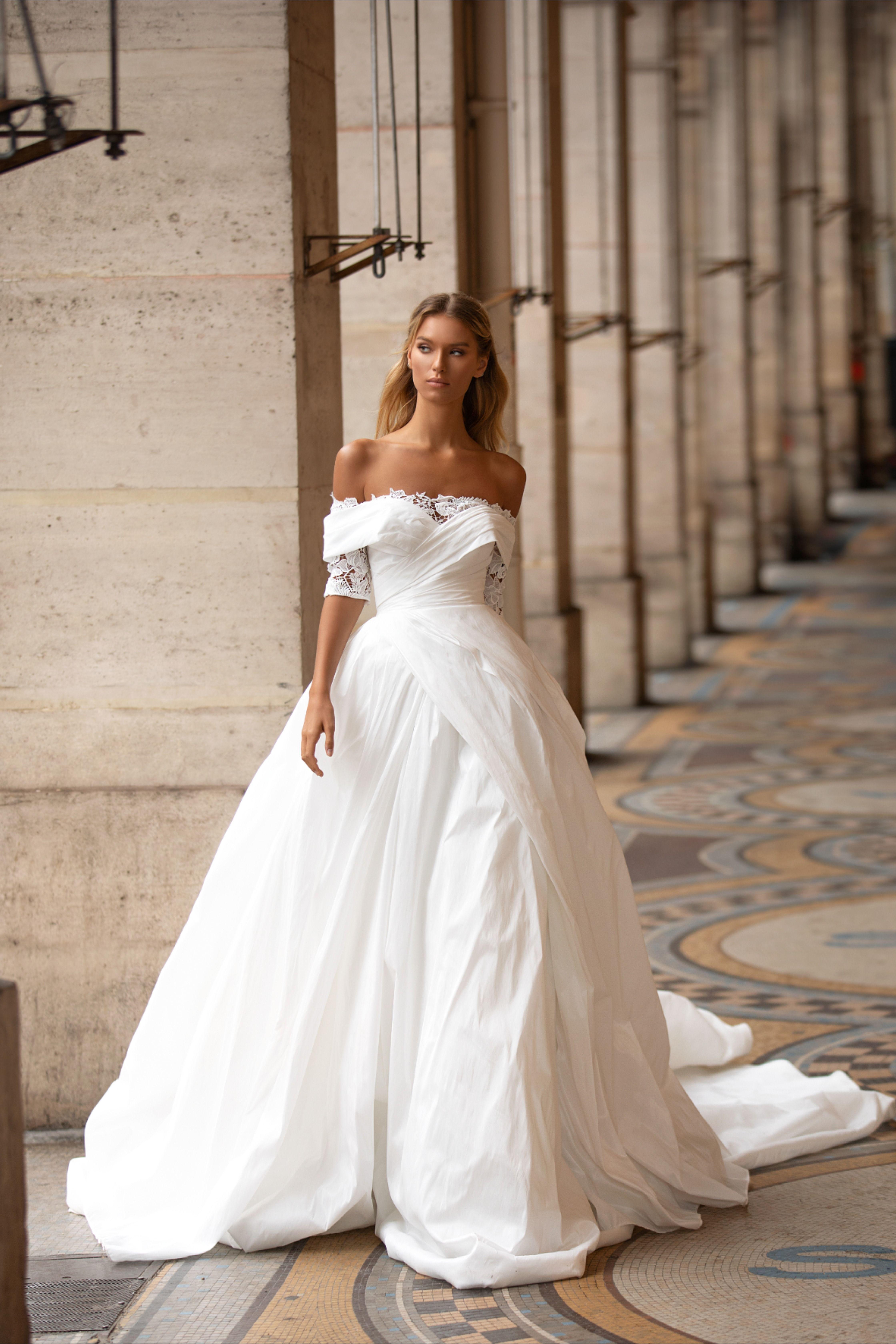 Romantic Simple Wedding Dress Ines By Milla Nova Wedding Dresses Simple Simple Wedding Gowns Wedding Dresses [ 6720 x 4480 Pixel ]