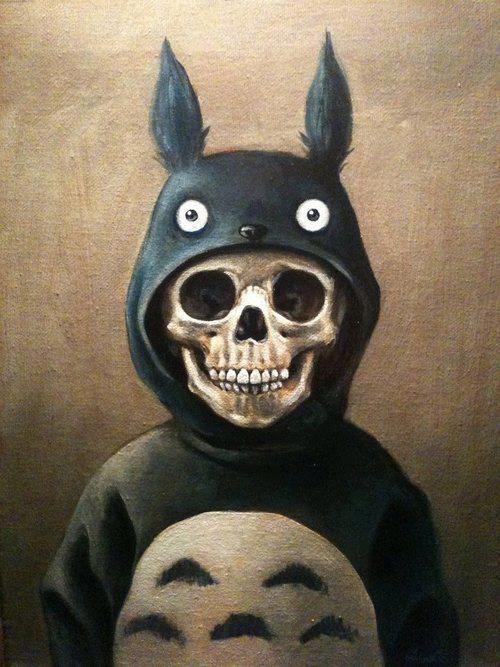 hayo miyazaki totoro .. and skull <3 <3 <3 /。、/。/