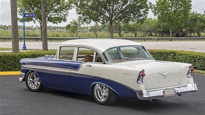 1956 Chevrolet 210 4 Door Mecum Auctions Bid Goes On 57k
