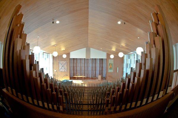 Cedar Lane Unitarian Universalist Church sanctuary organ