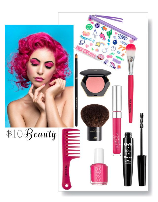 """""""Senza titolo #5188"""" by waikiki24 on Polyvore featuring moda, H&M, Essie, New Look, Sephora Collection, NYX e 10dollarbeauty"""