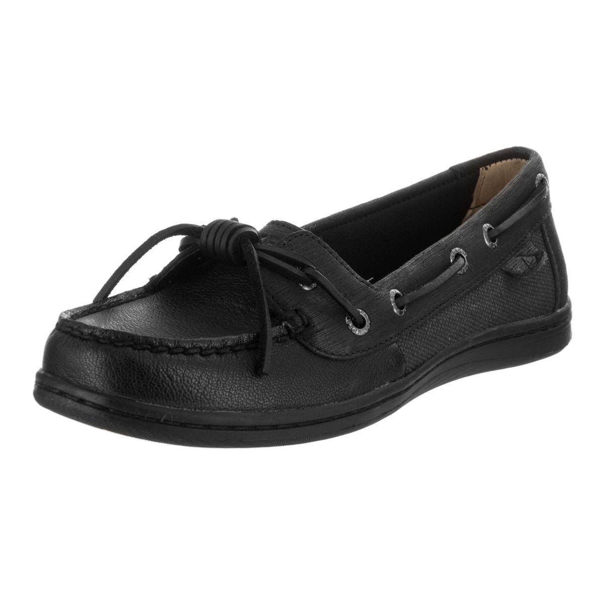 Sperry Top-Sider Women's Barrelfish Boat Shoe, Black - 6.5 B(M) US