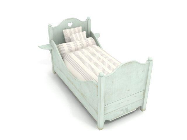 Highly detailed children bed 3d model