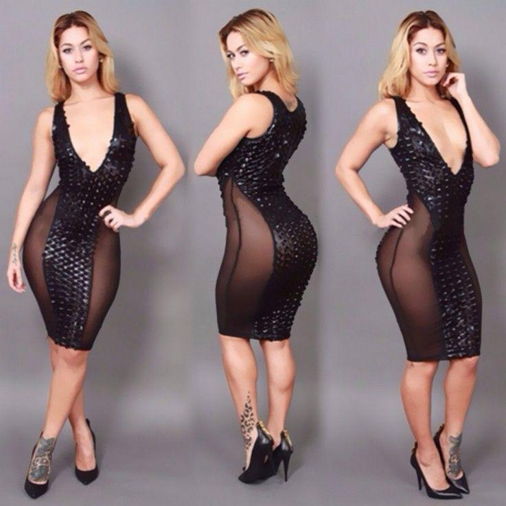 V cut cocktail dress
