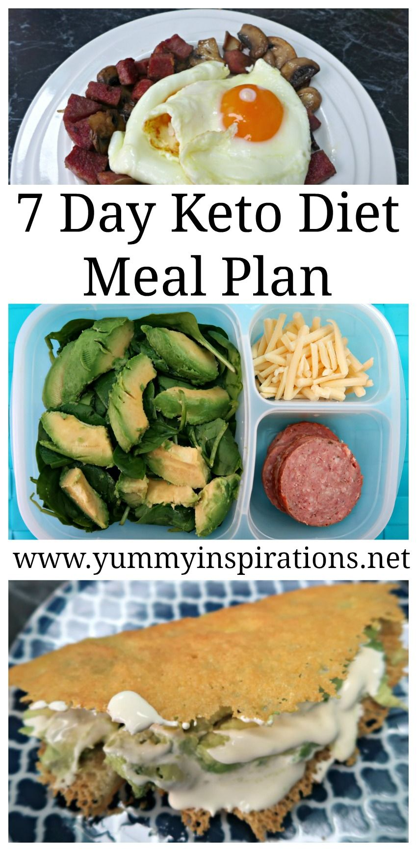 7 Day Keto Diet Meal Plan Menu For Weight Loss - Ketogenic Foods #ketomealplan