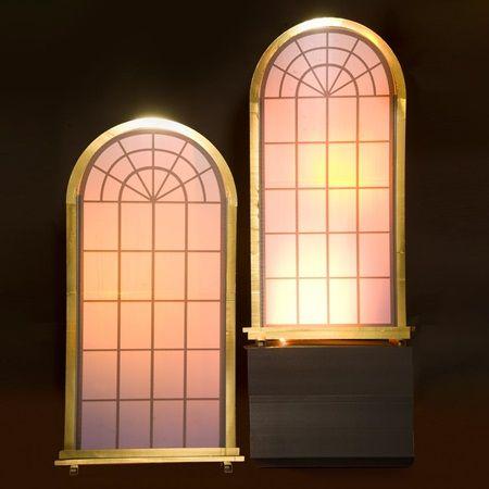 Golden mood lights windows kit set of 2 roaring 20 39 s for 1920s window